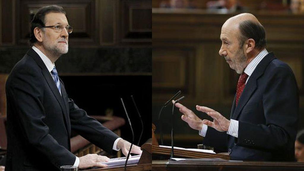 Rajoy y Rubalcaba enfrentados en el Debate del Estado de la Nación
