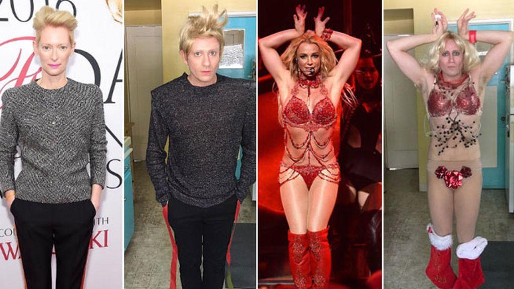 Puede recrea los hombros de Tilda Swinton y el casi invisible vestido de Britney