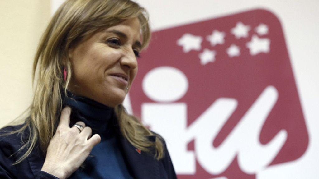 Tania Sánchez comparece ante los medios