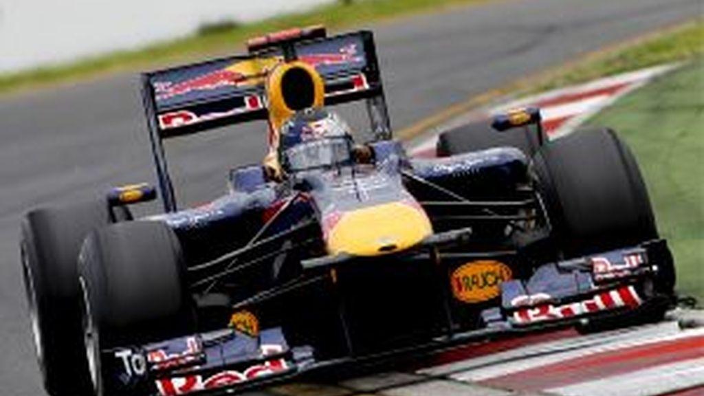 Sebastian Vettel, en Australia. FOTO: EFE.