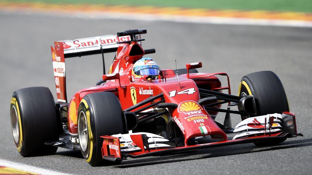 Fernando Alonso (Ferrari) durante una práctica