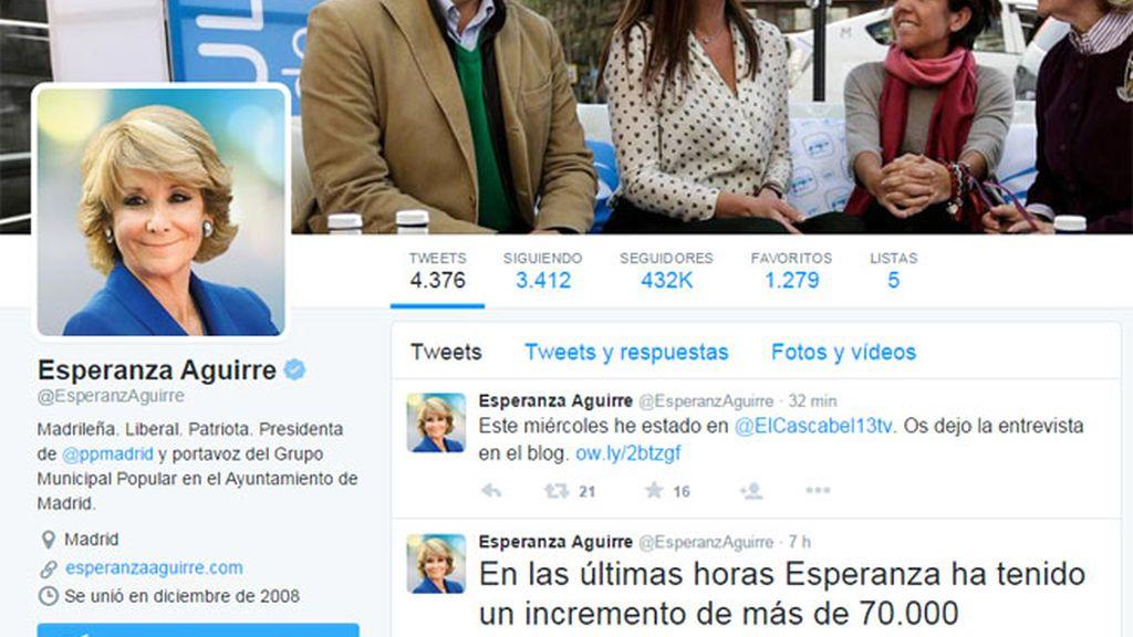 Esperanza Aguirre Twitter,