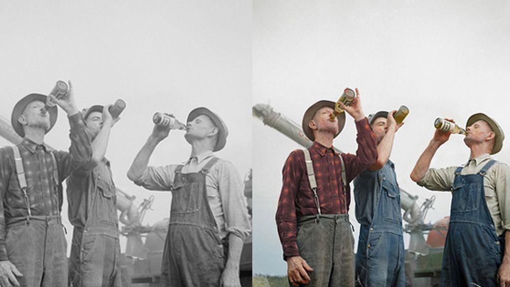Foto en blanco y negro tomada en 1941 por Arthur Siegel