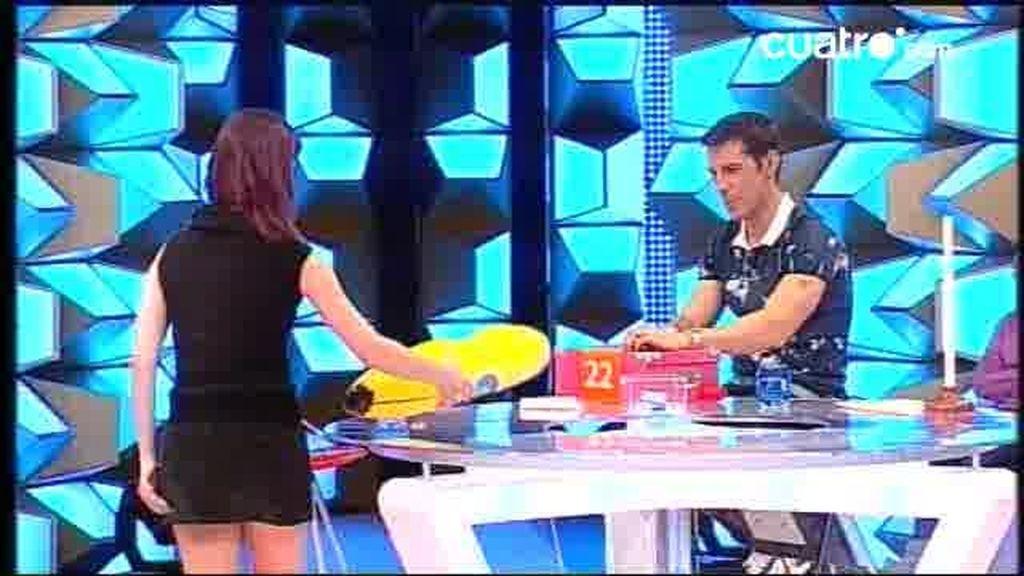 Leti vuelve a Pamplona con un plátano