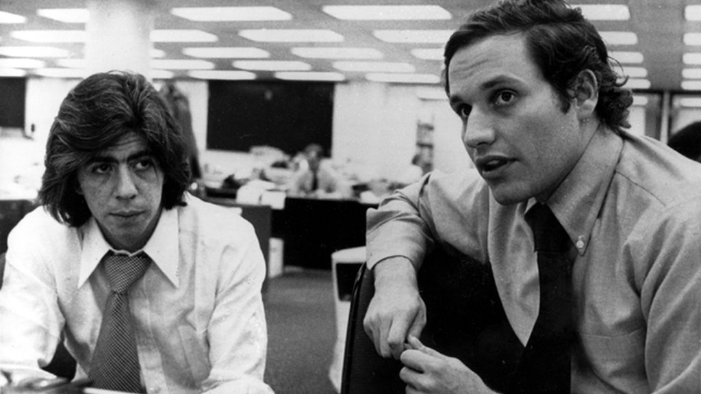 Carl Bernstein, y Bob Woordward en aquella época en la redacción de 'The Washington Post'