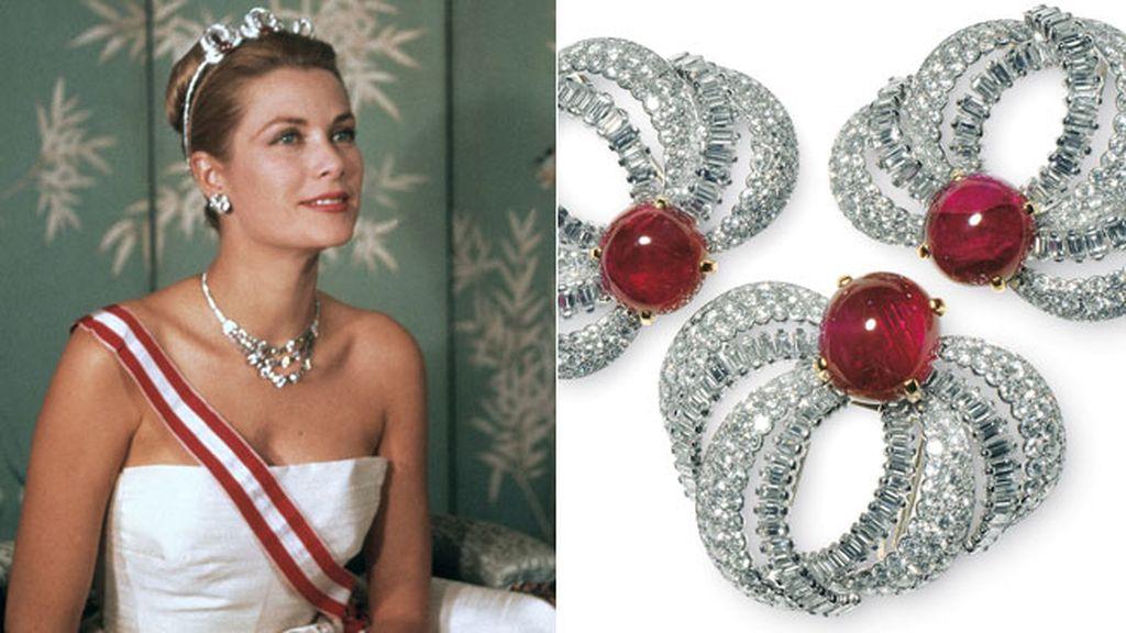 Conjunto de tres broches ajustables a la diadema de Grace Kelly