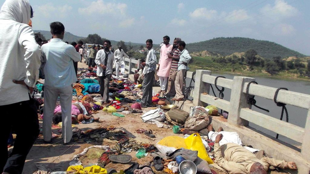 Tragedia en un templo de la India