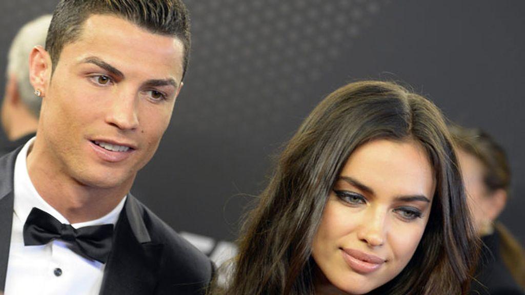 Cristiano Ronaldo, acompañado de su hijo y de Irina