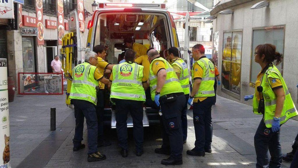 Un herido muy grave tras recibir tres puñaladas en la Puerta del Sol de Madrid