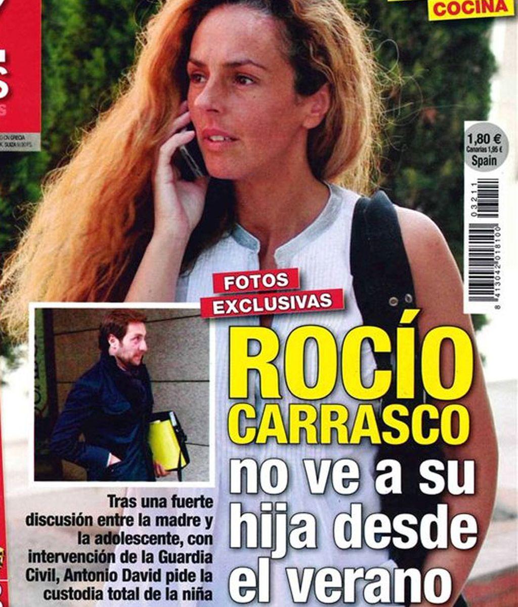 Rocío Carrasco no ve a su hija desde verano, según 'Diez Minutos'