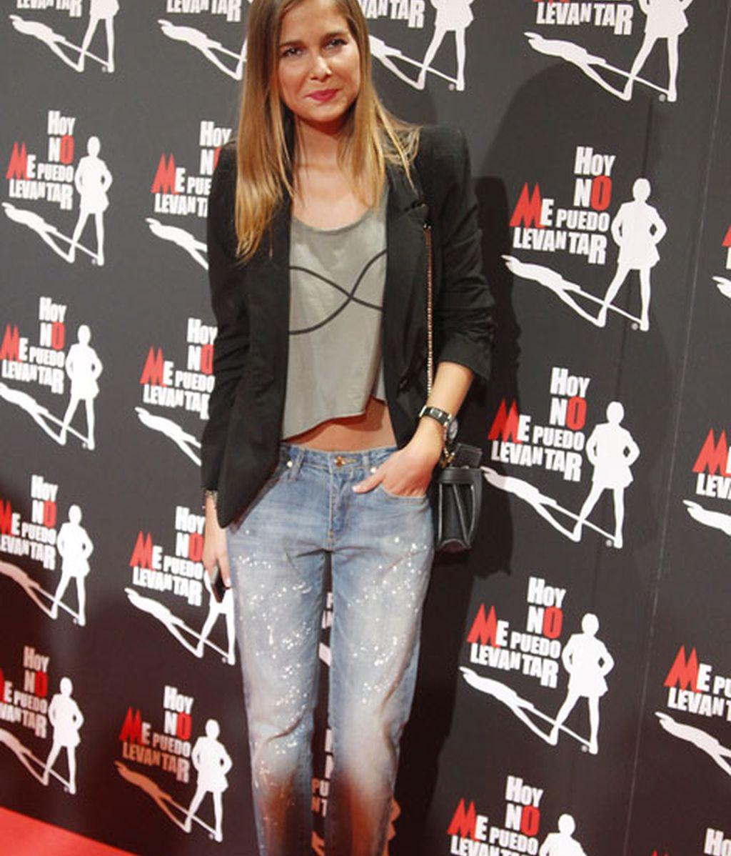 Natalia Sánchez eligió un look rockero para la ocasión