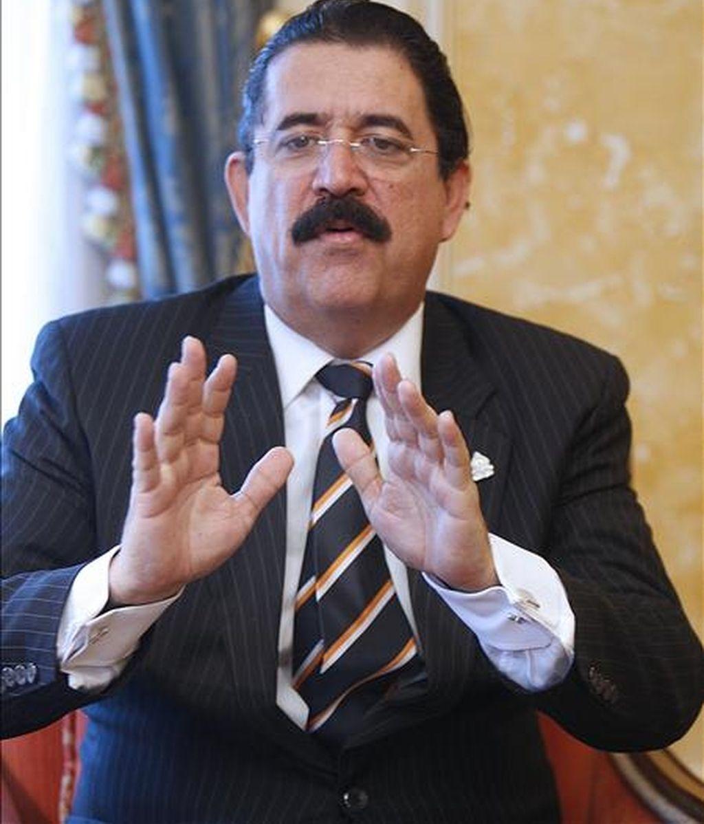 En la imagen, el ex presidente Manuel Zelaya. EFE/Archivo