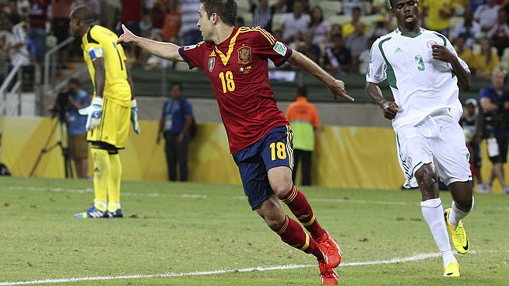 Jordi Alba fue el mejor jugador del partido