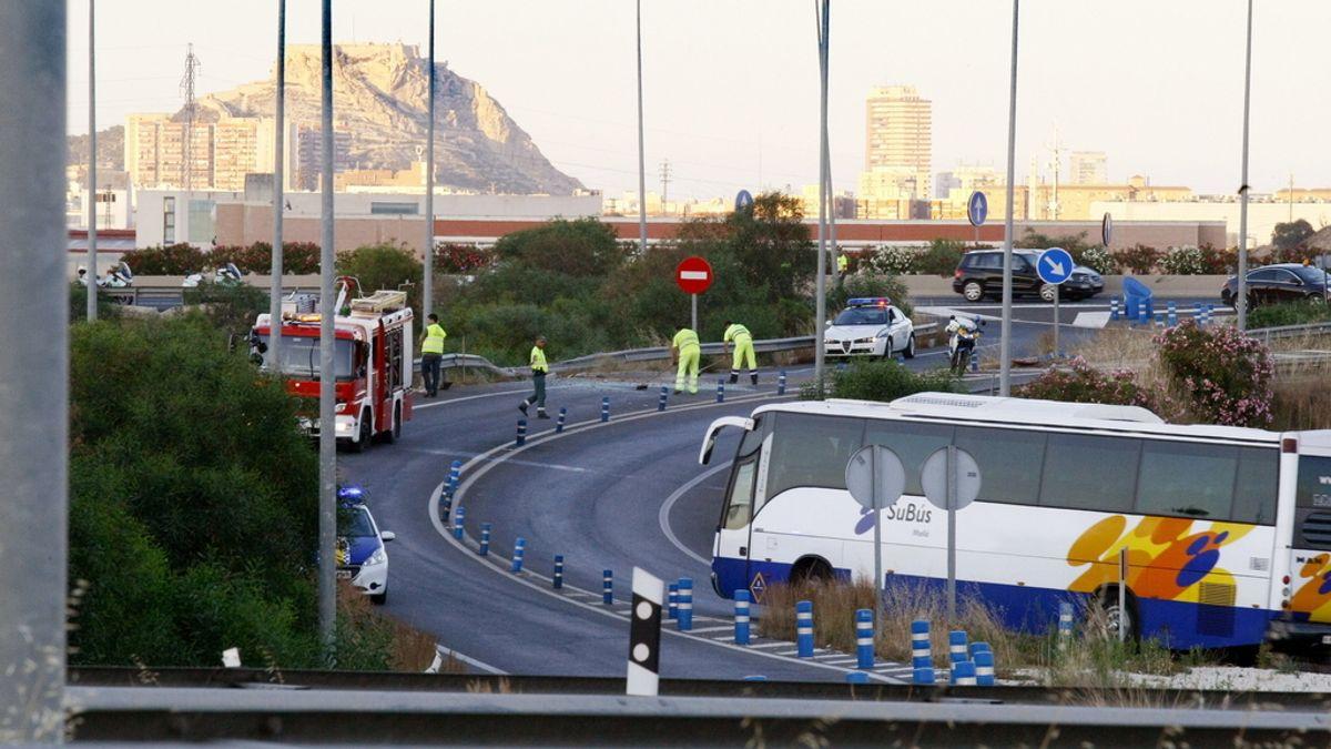 Accidente de autobús en Alicante. Foto: Efe