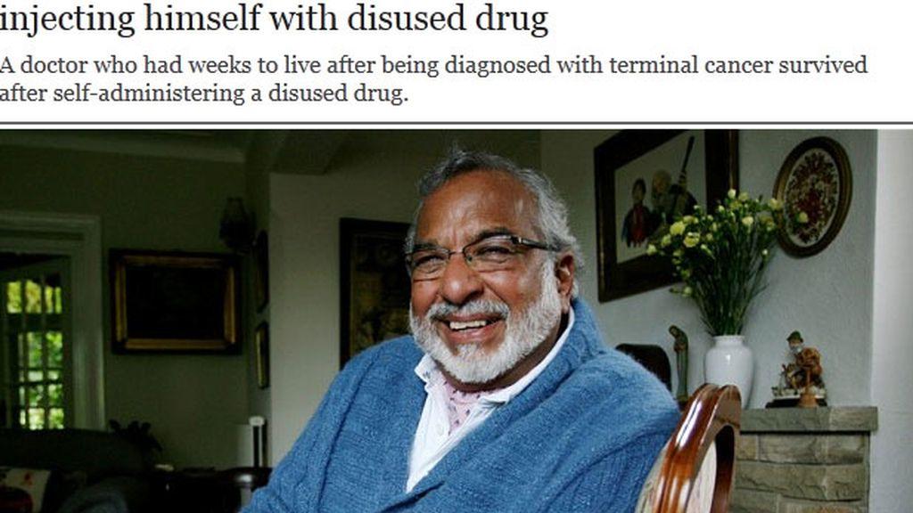 El cirujano renal, Rami Seth de 70 años fue desahuciado por los médicos debido a cuatro tumores en el hígado.