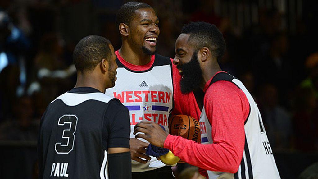 Harden, Durant y Paul