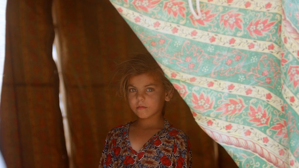 En el campo de refugiados
