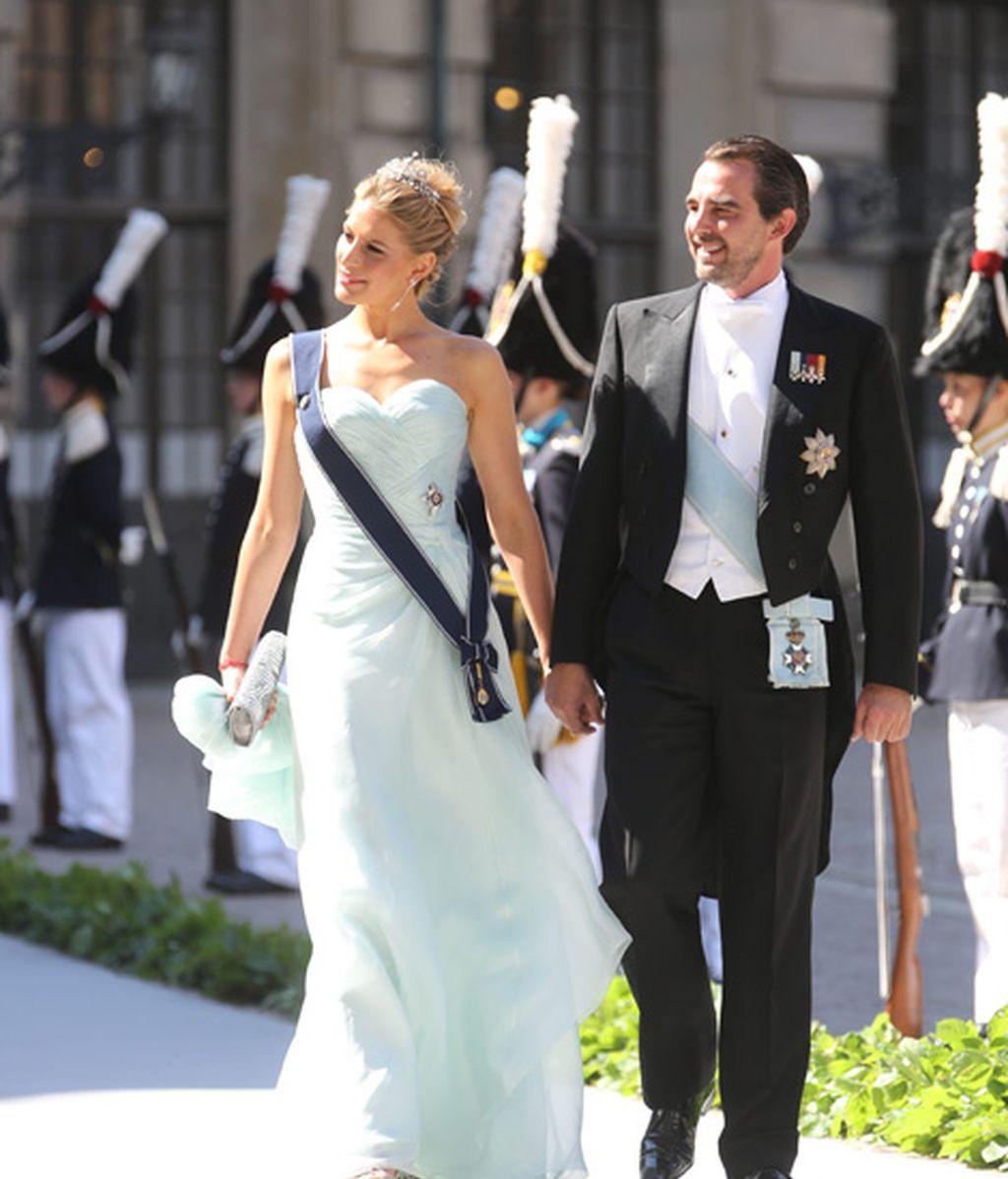 El príncipe Nikolaos y su mujer Tatiana