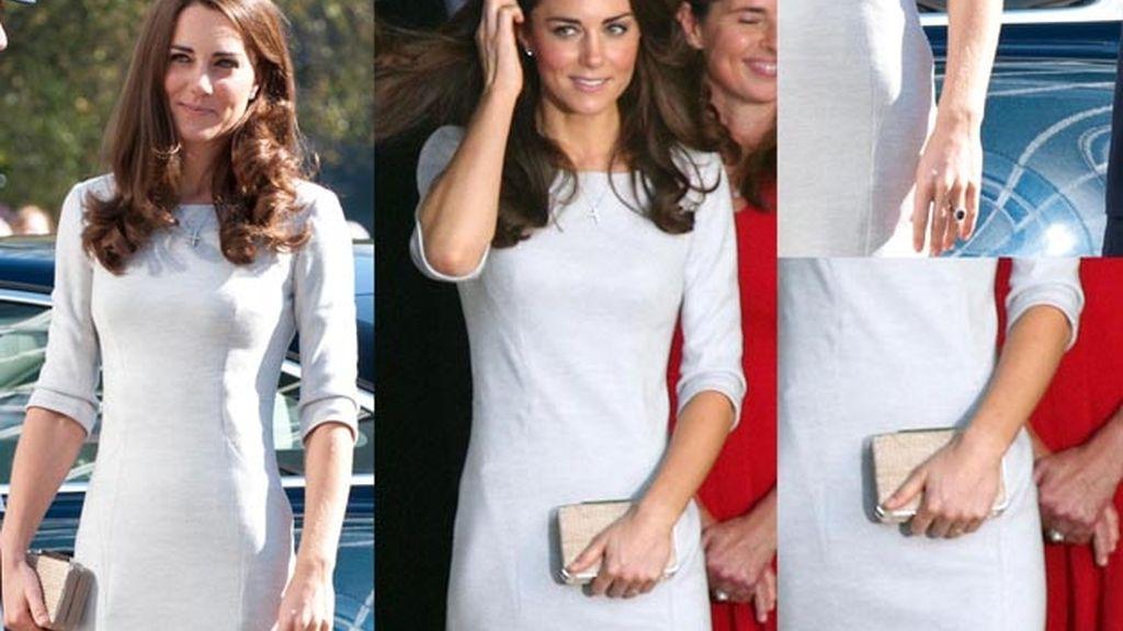 La mano de Kate antes y después de entrar al centro. Fotos: Gtres