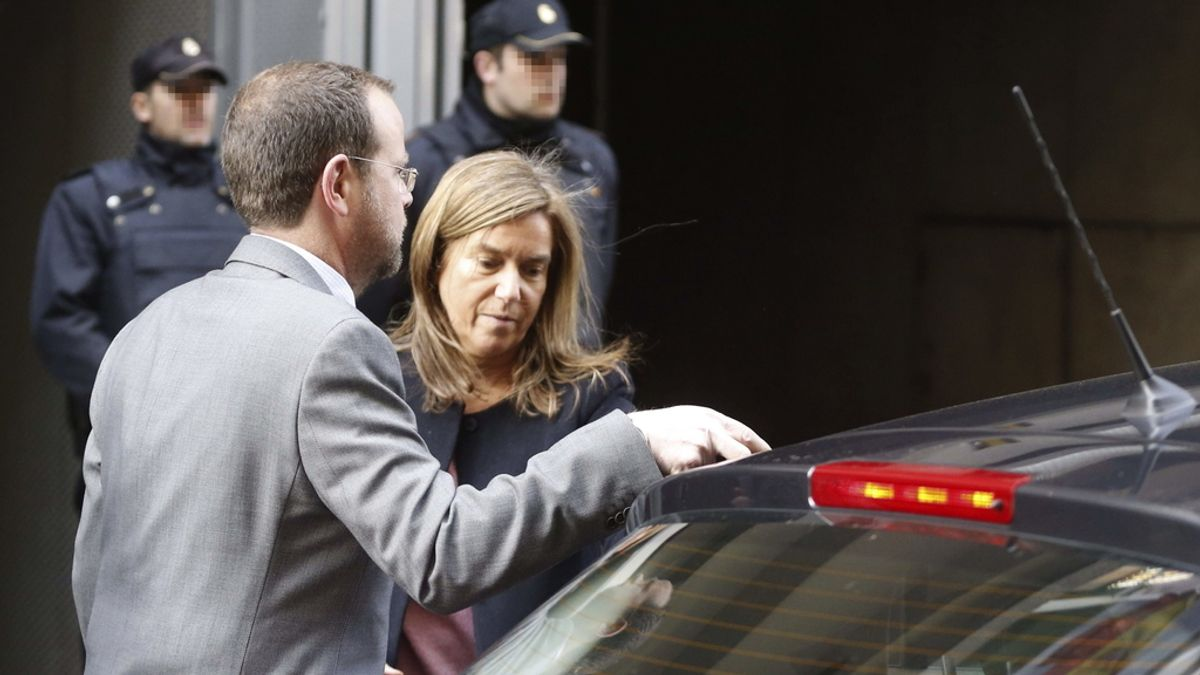 Ana Mato, a la salida de la Audiencia Nacional