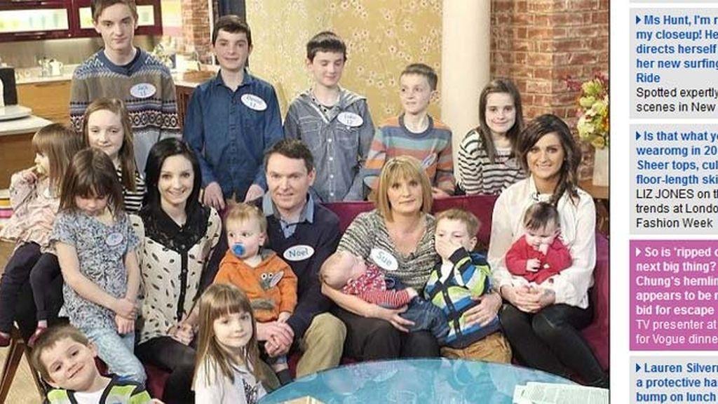 La familia más numerosa de Reino Unido