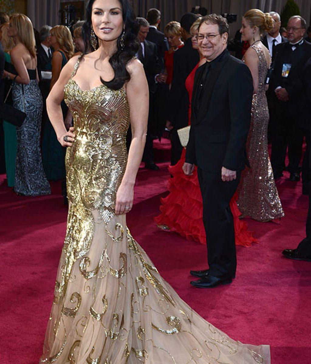 Catherine Zeta-Jones vestida de Zuahir Murad