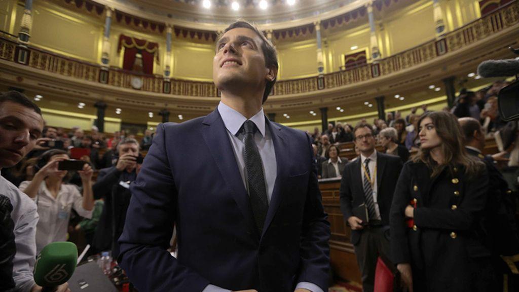 Albert Rivera, lider de Ciudadanos, visita el Congreso de los Diputados