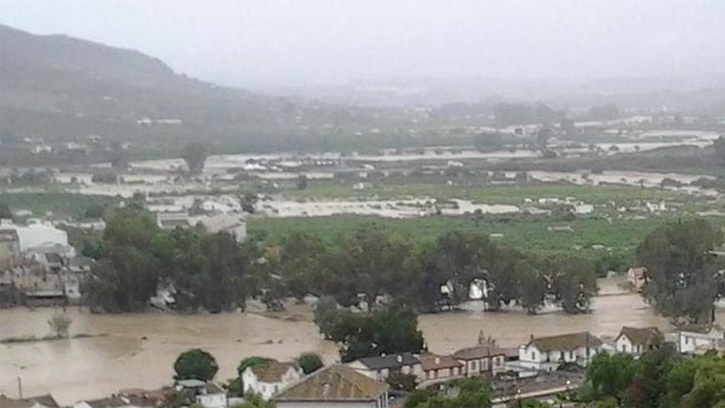 Grandes inundaciones en Álora