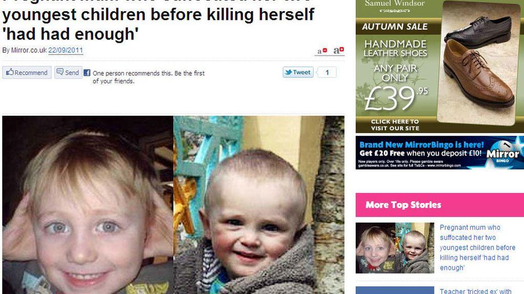Los dos niños , Felipe y Isaac Stevens, han sido asesinados por su propia madre