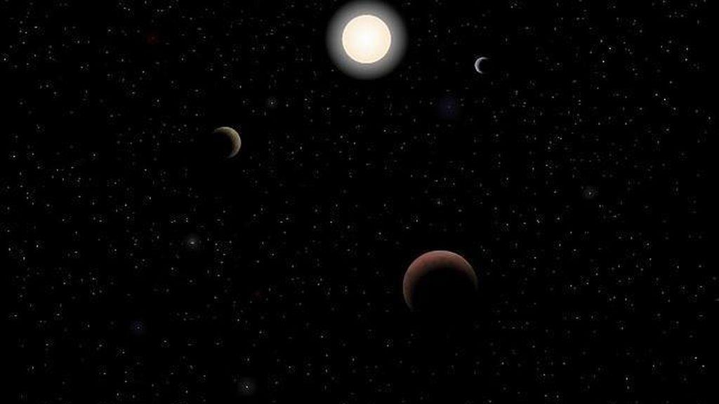 Reconstrucción de cómo sería Tau Ceti, el nuevo planeta