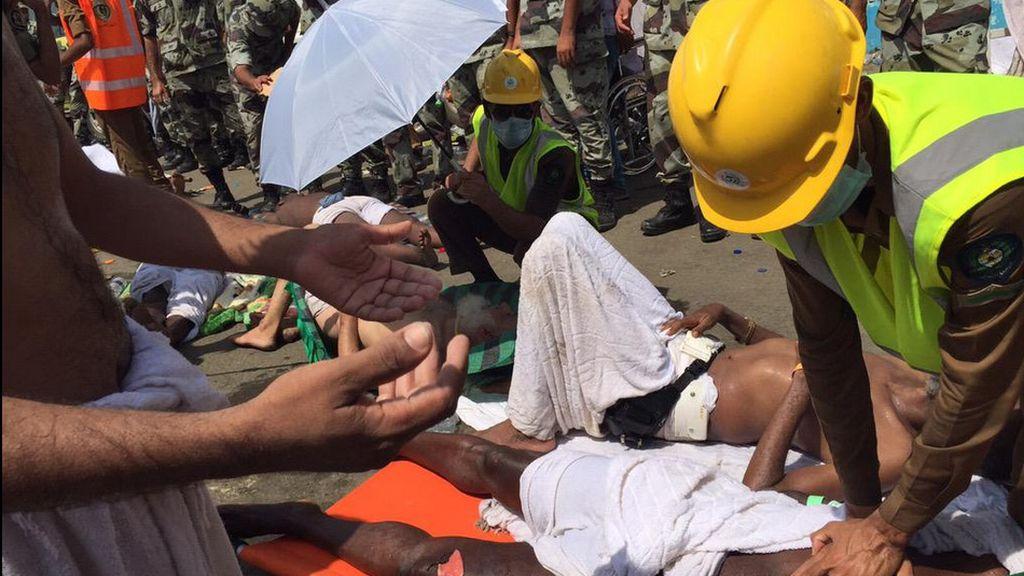 Centenares de fallecidos en una avalancha en La Meca
