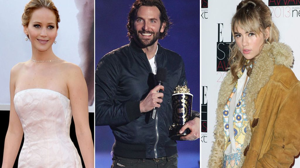 Jennifer Lawrence,Bradley Cooper y Suki Waterhouse