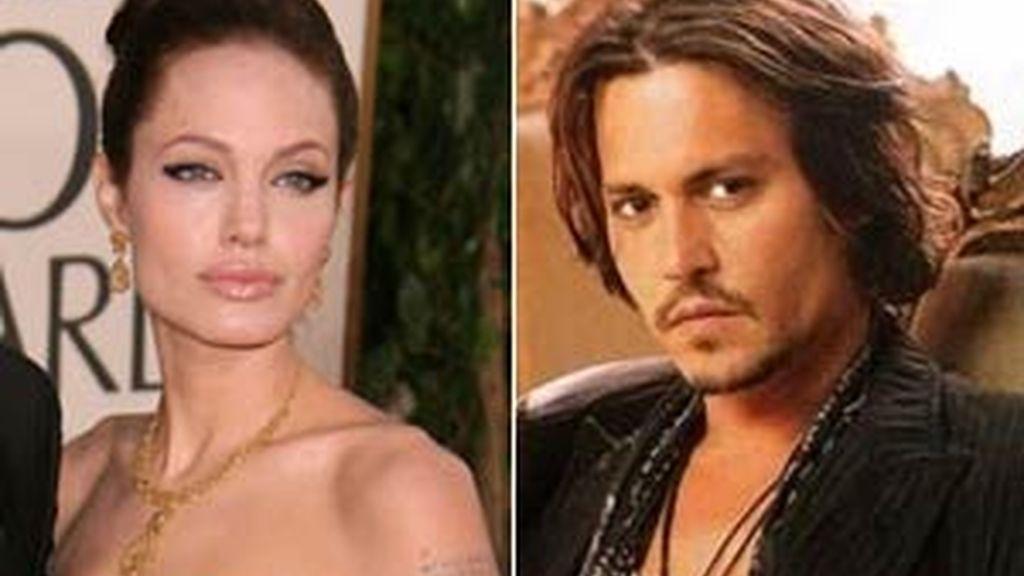 Los rumores de romance entre Angelina Jolie y Johny Deep han puesto en guardia a sus respectivas parejas.
