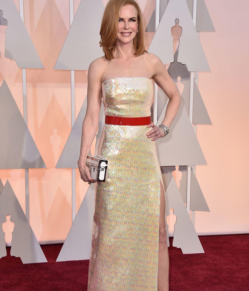 Nicole Kidman con un vestido de Louis Vuitton