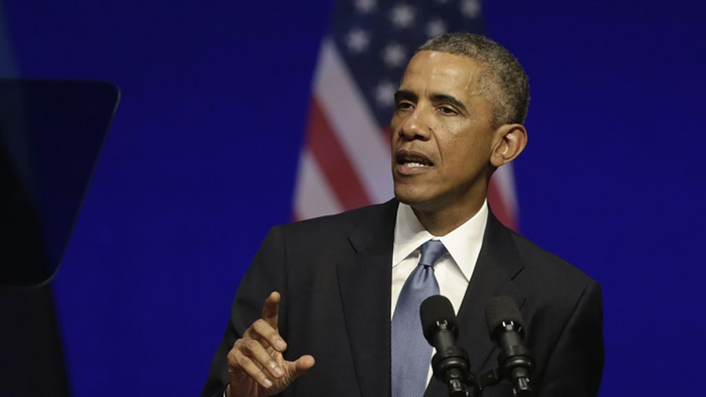 Barack Obama durante un discurso en Tallín, la capital de Estonia
