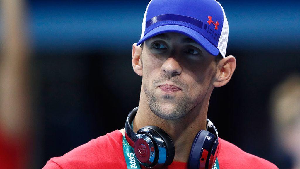 Michael Phelps ya está en Río (02/08/2016)