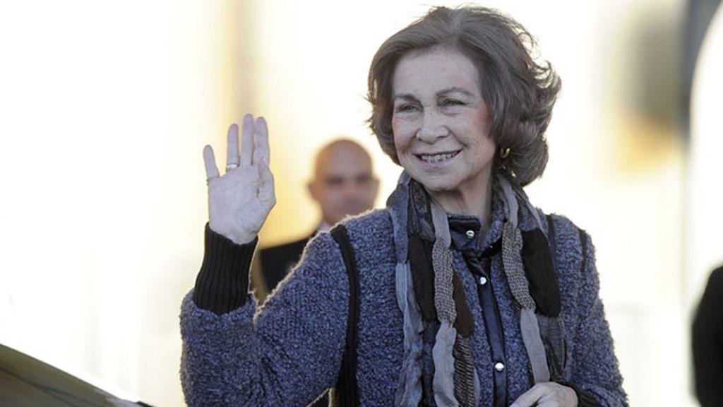 La Reina Sofía, a su llegada al Hospital Universitario Quirón de Madrid