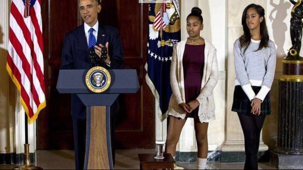 hijas de Obama,Elizabeth Lauten,Malia y Shasa Obama