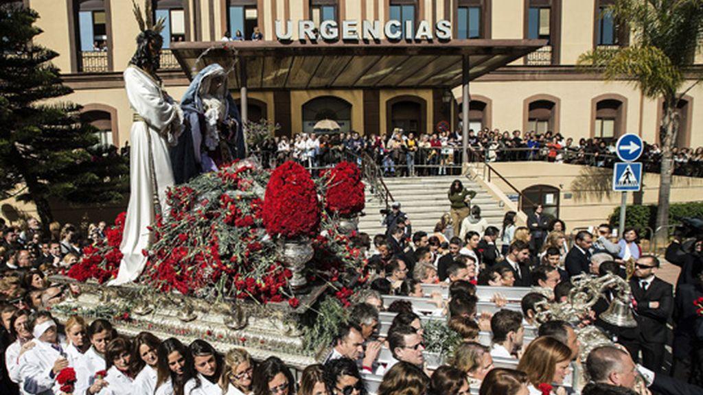 Paso de Jesús Cautivo y trono de María Santísima de la Trinidad Coronada en Málaga