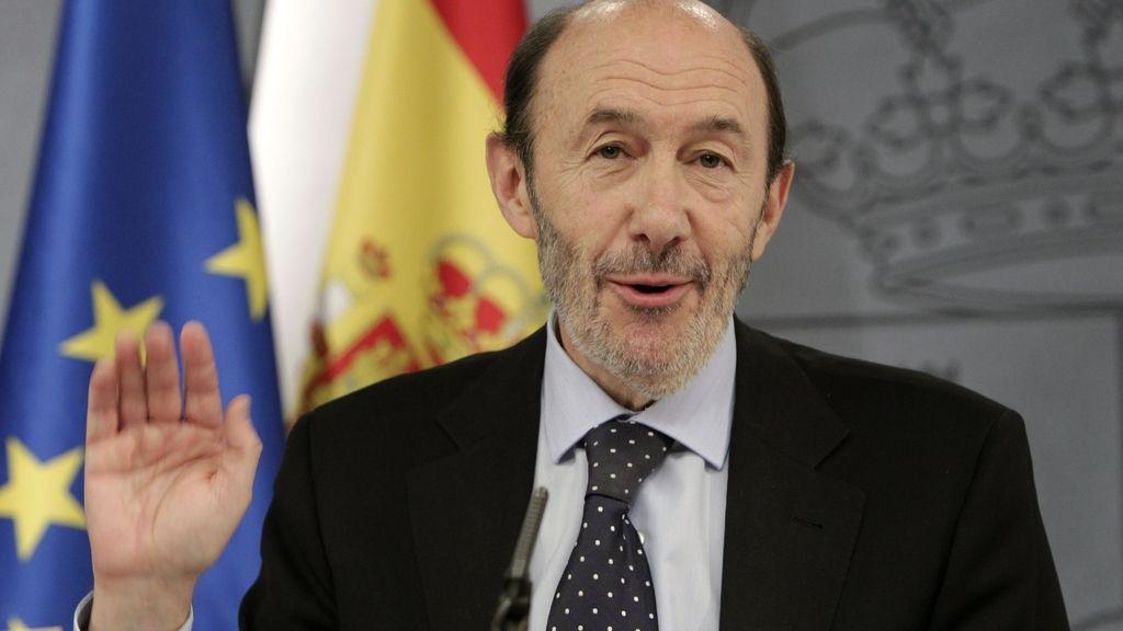 Última rueda de prensa de Alfredo Pérez Rubalcaba como portavoz del Gobierno