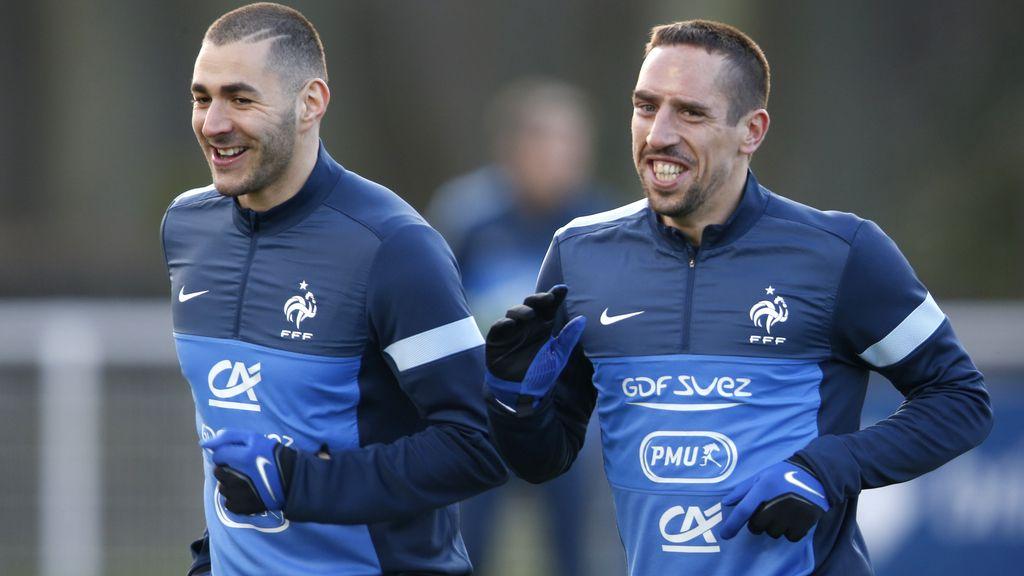 Benzema y Ribéry