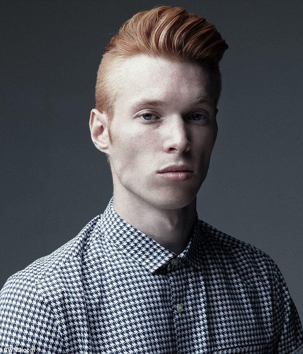 Louis Evans, modelo británico pelirrojo de éxito
