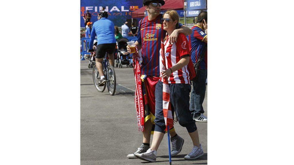 En la 'fan zone' del Barcelona