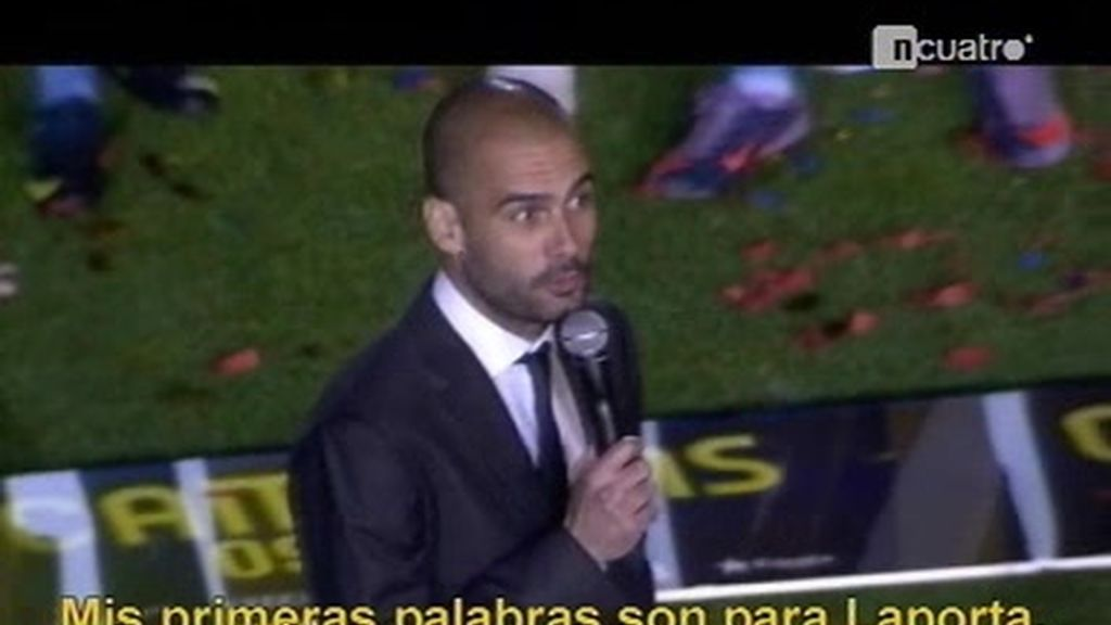 La fiesta del Barça en el Camp Nou