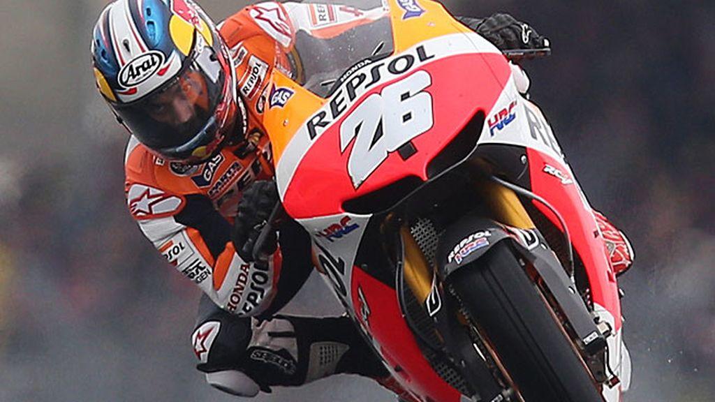 Dani Pedrosa, subido a su Honda en Le Mans
