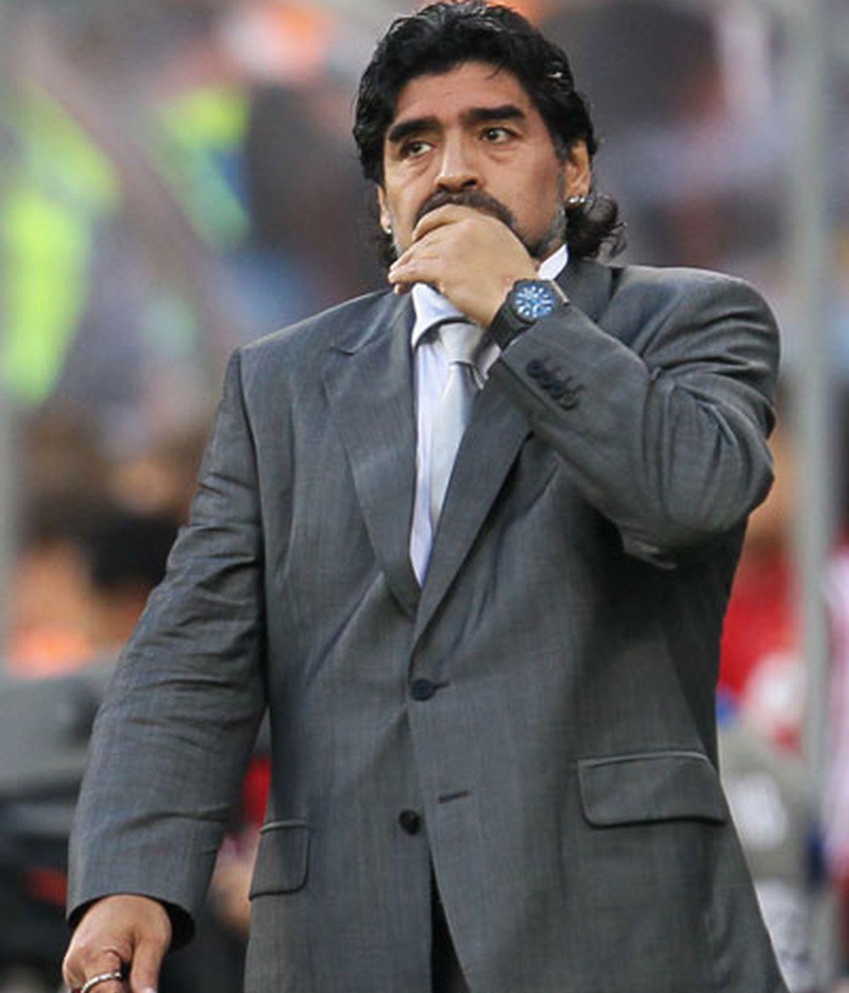 Maradona cerró su etapa como seleccionador recibiendo una goleada contra Alemania