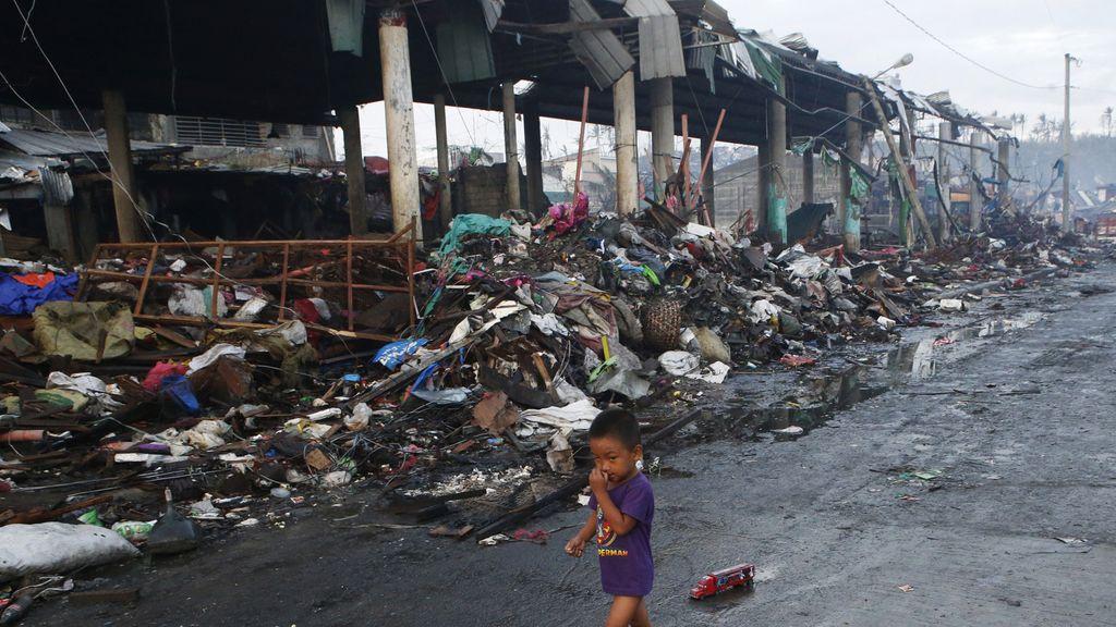 Secuelas del paso de Haiyan por Filipinas