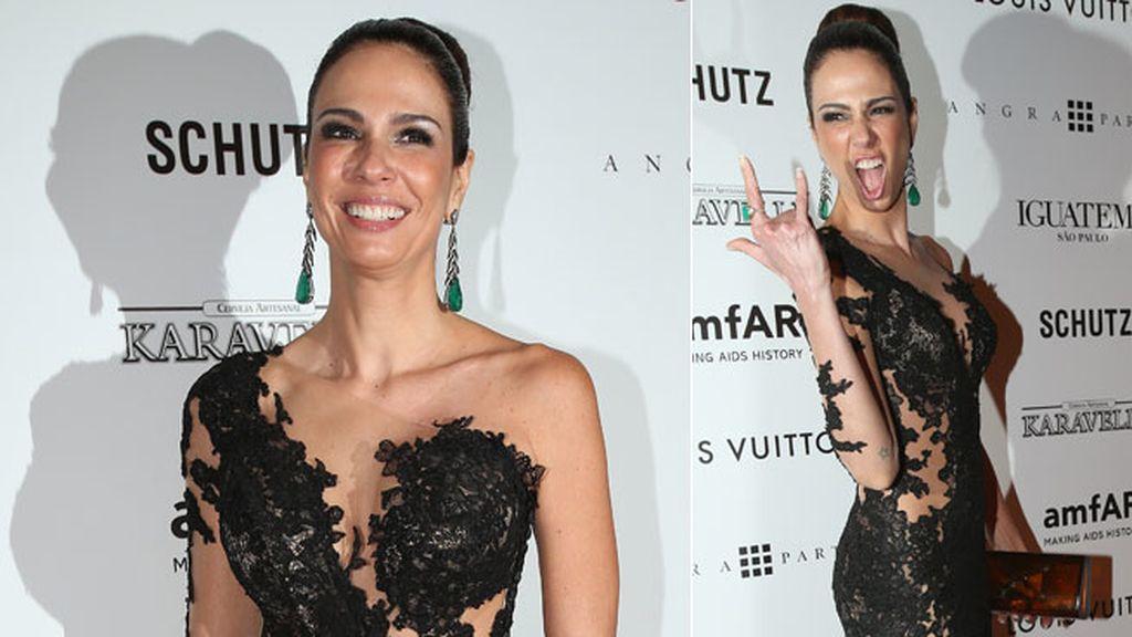 Luciana Giménez, divertida y elegante