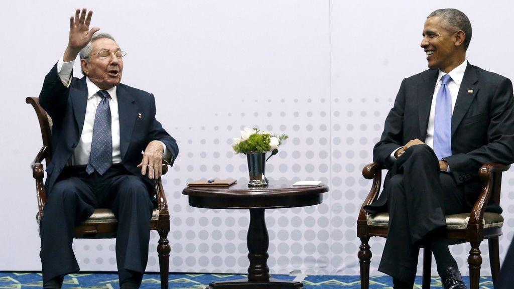 Reunión de Raúl Castro y Barack Obama