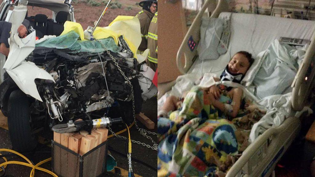 Niño a punto de morir decapitado en un accidente de coche